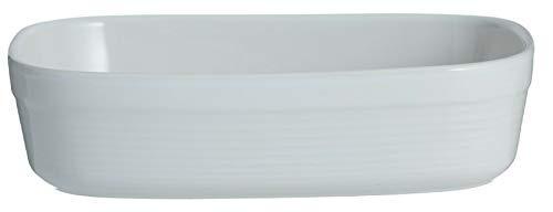 Mason Cash Ondulé Grand Rectangle Rôtissage Plat à Four Blanc Plat de Tarte 28cm Plat
