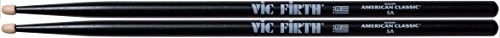 vic-firth-5ab-american-hickory-wood-tip-drumstick-black-finish