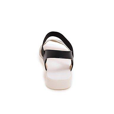 Enochx Donna Sandali Primavera Estate D'Orsay & in due pezzi Comfort suole luce similpelle outdoor Abbigliamento Sportivo tacco piatto Split cavo di giunzione-out Black