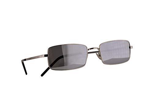 Saint Laurent SL 252 Sonnenbrille Silber Mit Silbernen Verspiegelten Gläsern 56mm 004 SL252