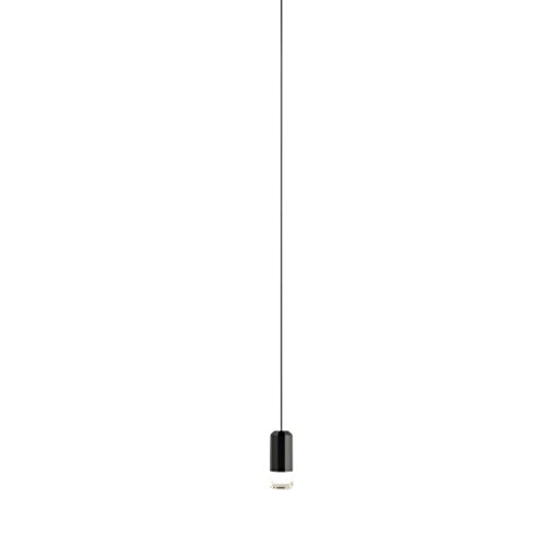 Vibia wireflow Freeform 0345 LED Lampe suspension noir laqué H x Ø : 200 x 20 cm Intensité variable 109 lm - 2700 K