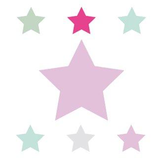 anna wand Bordüre selbstklebend SUPERSTARS - Wandbordüre Kinderzimmer / Babyzimmer mit bunten Stern-Motiven - Wandtattoo Schlafzimmer Mädchen...