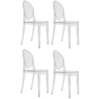 Kartell Offerta 4 sedie Victoria Ghost trasparenti