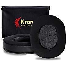 Krone Kalpasmos Ersatz-Ohrpolster, Silikongel, Protein-Leder, Memory-Schaum, für Turtle Beach Stealth 300/400/450/500X/520/600/700/900/M5Ti, Ultrasone PRO-900/HiFi 782