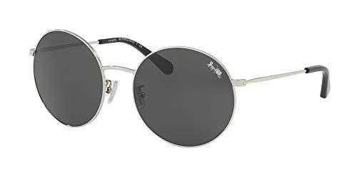 Coach - Damen, Hc7078, L1012, Sonnenbrillen, 56 mm Damen, Schwarz (Silver/Dark Grey Solid), Einheitsgröße