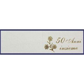 100 pz bigliettini bigliettino bomboniera 50 anni anniversario nozze oro