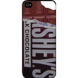 Hershey's Chocolate bar unwrapped - Hard Black Plastic Snap - On Case-Apple Iphone 5 - 5s - Great Quality!