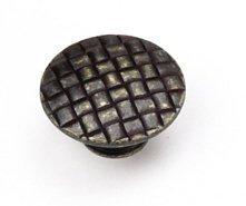 Laurey 24578 Cabinet Hardware 1-1/4-Inch Cross Hatch Knob, Weathered Antique Bronze by Laurey -