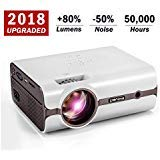 Crenova XPE496 2018 Upgraded Projector ââ'¬â€œ 2200 Lumens (+80%) Home Projector ââ'¬â€œ Portable Video Projector ââ'¬â€œ Compatible PC/Mac/TV/DVD/iPhone/iPad/USB/SD/AV/HDMI Home Theater/Outdoor/Vi
