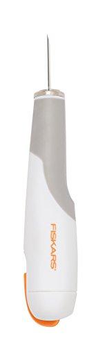Fiskars Hochleistungsmesser/Cutter, Gesamtlänge: 15 cm, Inkl. 1 Klinge Nr. 2, Qualitätsstahl/Kunststoff, Weiß/Orange, Premium, 1024387