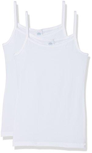 Sanetta Mädchen 344838 Unterhemd, Weiß (White 10), 164 (2erPack) - Mädchen Unterhemd