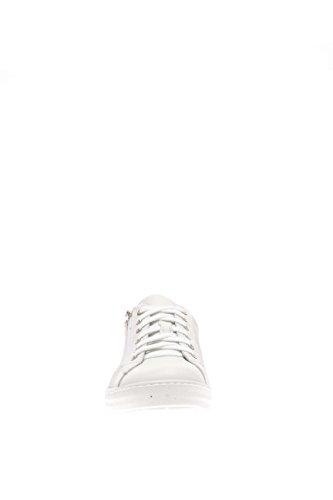 P604102U-707Nero Giardini Baskets en cuir Blanc Cassé - blanc