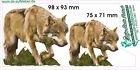 Wild Caza lobo adhesivo 2en Juego
