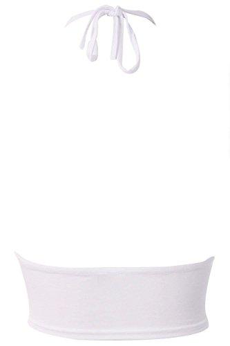 Chocolate Pickle ® Frauen-Top mit Nacken-Mandala Crop Top 36-42 White