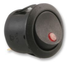 SWITCH, ROCKER, SPST, BLACK, RED NEON ABRR006 By Best Price Square -