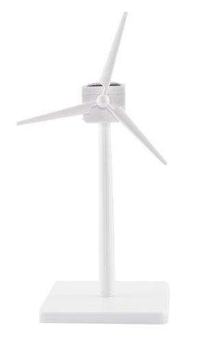 Kleinster Solar Windgenerator weiß 17cm, Bausatz - World´s Smallest Windturbine white 17cm, kit - La Plus Petit Eolienne Solaire ABS Blanche 17 cm Du Monde !