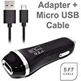 TracFone LG Revere 3 Rapid Charger Micro USB Cable Kit Black! [1 USB