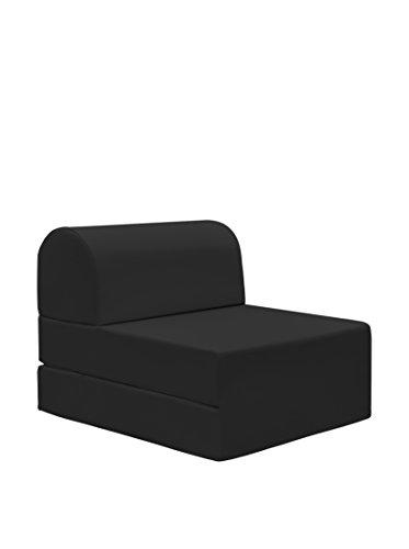 13casa - petra a3 - pouff chaise longue trasformabile. dim: 59x72x53 h cm. col: nero. mat: ecopelle.
