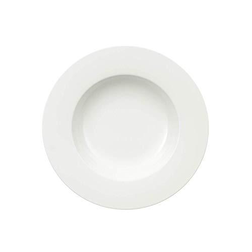 Villeroy & Boch - Assiette à Soupe Royal, Assiette Creuse en Porcelaine Bone Premium Brillante, Blanche, Compatible Lave-Vaisselle, 24 cm