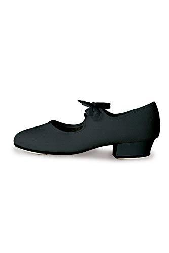 Roch Valley Damen Low Heel Canvas Tap Schuhe, Schwarz, Größe L -