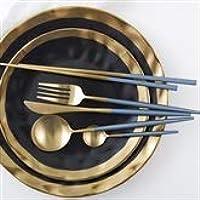 Amazon.es: cubiertos dorados acero inoxidable - Vajilla y ...