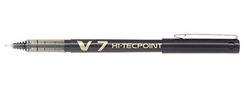 pilot-v7-hi-tecpoint-rollerball-pen-07-mm-tip-black-box-of-12