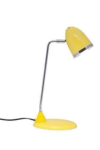 Lámpara de escritotio amarilla. Bajo consumo.