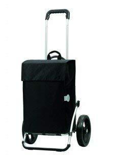 Andersen Chariot de courses Royal avec sacoche Hera noire, volume 44L, cadre aluminium et roues à 3 rayons