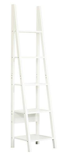 Orolay moderno scaffale a scala con cinque ripiani (bianco)