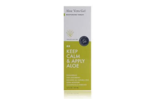 Aloe Vera Puro Gel Hidratante de Aloe Vera 500g 100% Puro y Natural El mejor hidratante para el rostro cuerpo y cabello calma después de la depilación botella con dosificador