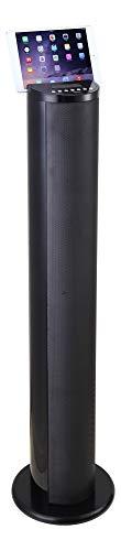 Lenco Lautsprecher BTL-450 Tower mit Blitz und Bluetooth (Fernbedienung, PLL FM Radio, USB, SD, 60 Watt Ausgangsleistung, Subwoofer, Aux-Eingang) Schwarz -