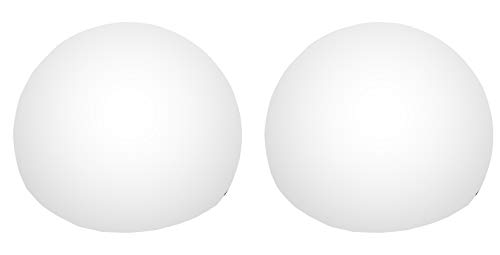 Lot de 2 Sphères Boules Lumineuses Flottantes - Lampe LED Ronde 8 cm Blanche - PK Green