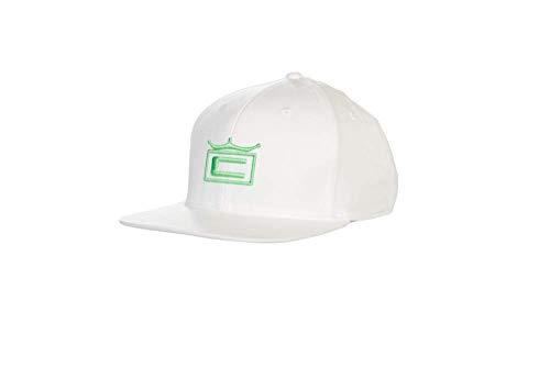 1d0ed1ec344 COBRA Men s 110 Golf 2019 Tour Crown Snapback Hat (White-Irish Green)