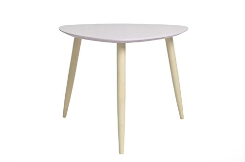 Demeyere Manon Triangle Table Basse Rose, Bois, Rose Clair C