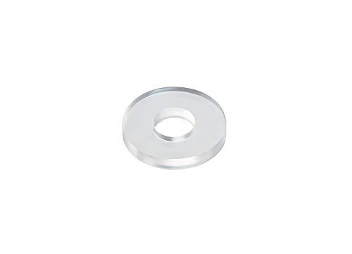 Kunststoffunterlegscheiben U-Scheiben aus Kunststoff, 6/16 mm, transparent, 100 Stück