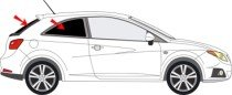 Vitres teintées SANS FILM SEAT Ibiza IV 3 portes après 2008 Art. 250143D-3 Solarplexius