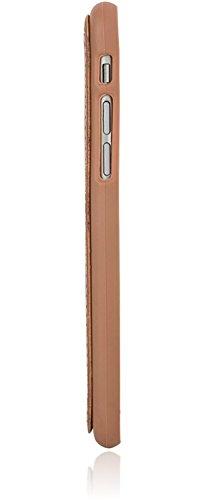 Bouletta - Flex Cover - Apple iPhone 6 / 6S Hülle   Leder+TPU Schutz-Hülle   Handyhülle   Ledertasche   Handytasche   Schutzhülle   Cover   Case   Hülle   bruchfeste Schale (Cognac) Sattel Braun