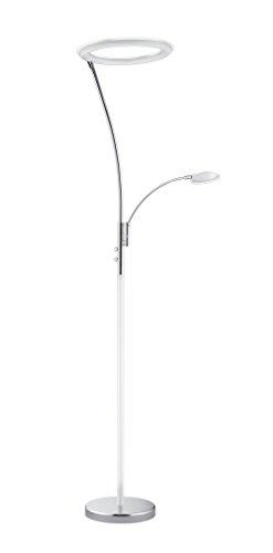 Trio Leuchten LED-Fluter Calgary in weiß/chrom, Schirm Acryl weiß 422510201