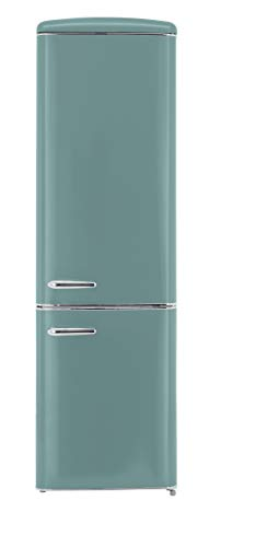 Exquisit RKGC 250/70-16 A++TB Retro-Kühl-Gefrierkombination/EEK: A++/ 4* Gefrierfach/181 Liter Kühlen/63 Liter Gefrieren/ Retro-Handgriff/Taubenblau