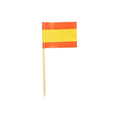 16639 - PAPSTAR - 500 Deko-Picker 8 cm Flaggen Spanien