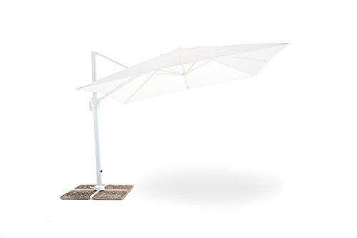 Ombrellone Senso 3x3, Bianco