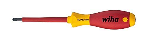 Wiha Schraubendreher SoftFinish® electric PlusMinus/Pozidriv (30700) SL/PZ1 x 80 mm  VDE geprüft, stückgeprüft, ergonomischer Griff für kraftvolles Drehen, Allrounder für Elektriker