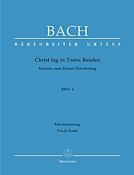 Cantate BWV 4 Christ lag in Todesbanden --- Chant(SATB)/Piano