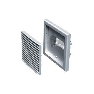 Aldes 154mm x 154mm Square Air Vent Grille Cover/Louver Ventilation Cover with Anti Insect Mesh for ducting (ø100mm-125mm)