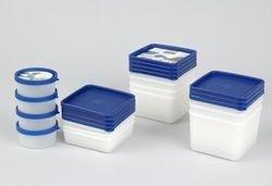 Westmark Kräuterdosen-Set, 8-teilig, Volumen je 100 ml, Kunststoff, Rund, Ø 8,3 cm, Trio, Transparent/Blau, 25742270
