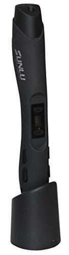 SUNLU SL-300 3D Pen 3D Stift mit LCD-Display in verschiedenen Farben, hier Farbe Schwarz, inklusive PLA/ABS Filament zum Modellieren und Basteln