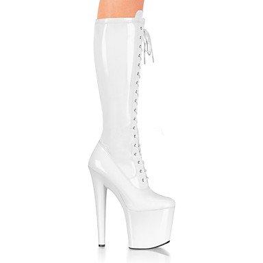 Heart & M Womens Botines Boots Pu (poliuretano) Winter Evening Y Party Laces Stiletto Blanco Negro Rojo 12 Cm Y Sobre Blanco