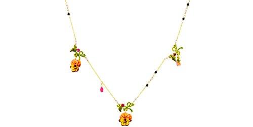 Le Néréides gioielli di Collana-trio il pensiero, colore: doratura liquida oro, colore: rosa salmone