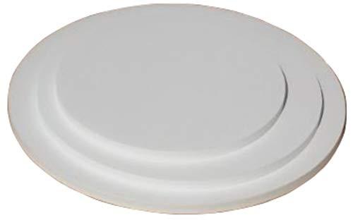 Cake Board rund 3er Set 20/25/30cm mit 12 Tortenstützen für mehrstöckige Torten. Leicht und stabil. Stärke 10mm. Cake Board