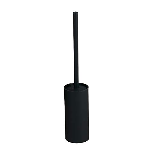 Bgl 304 - portascopino per wc in acciaio inox, colore: nero opaco